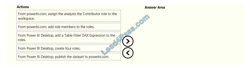 lead4pass da-100 exam questions q10