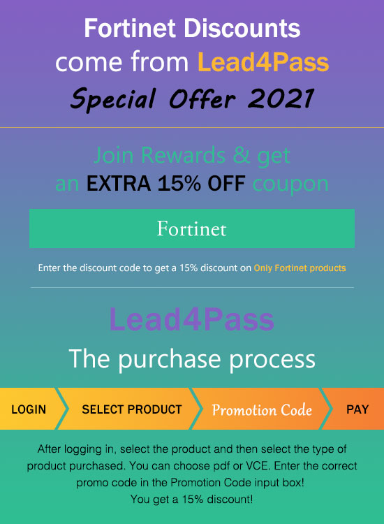 lead4pass NSE7_EFW-6.2 discount code